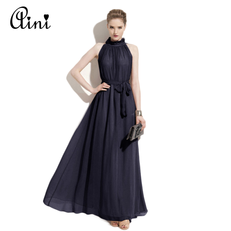 Popular Womenu0026#39;s Off Shoulder Long Sleeve Maxi Chiffon Prom Dress - ACHICGIRL.COM