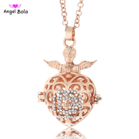 Angel Bola 10pcs/Wholesale Lucky Angel Wings Hearts Pendant Engelsrufer Necklace Angel Maternaty Ball Jewelry L075