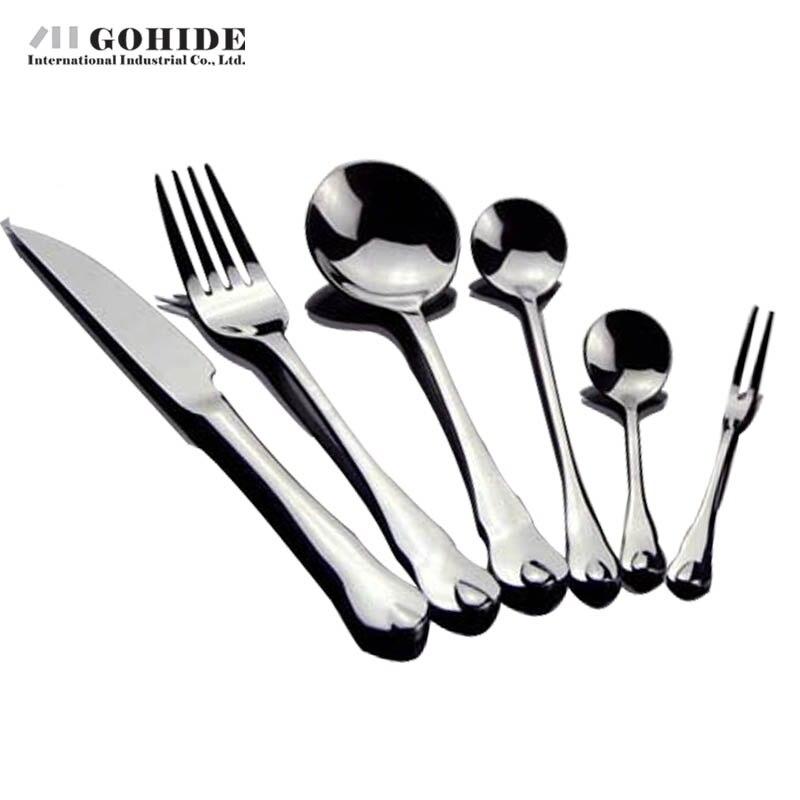 Gohide Stainless Steel Dinnerware Tools 6pcs Lot western Food Dinnerware Set Stainless Steel Steak font b