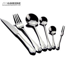 Gohide Stainless Steel Dinnerware Tools 6pcs/Lot western Food Dinnerware Set Stainless Steel Steak Knife Fork Spoon Cutlery Set