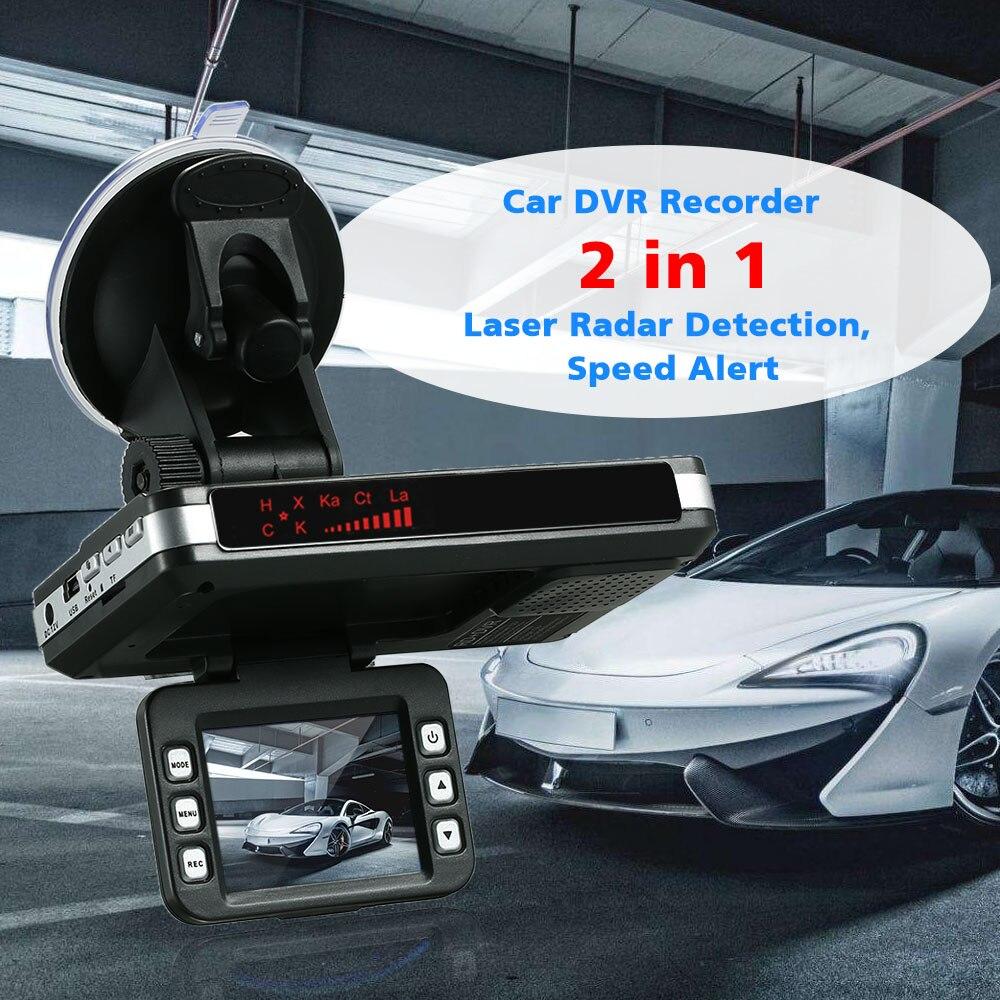 Anti Radar Detector Car DVR 2 in 1 720P Dash Cam Radar Speed Detector with Full