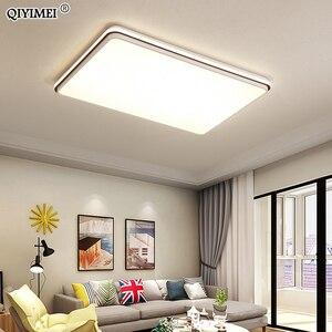 Image 2 - 새로운 현대 LED 천장 조명 거실 원격 제어 디 밍 다이닝 룸 침실 화이트와 블랙 조명 조명