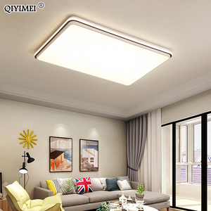Image 2 - New Modern LED Ceiling Lamps For Living Room Remote Control Dimming For Dining Room Bedroom white and black lighting Lights