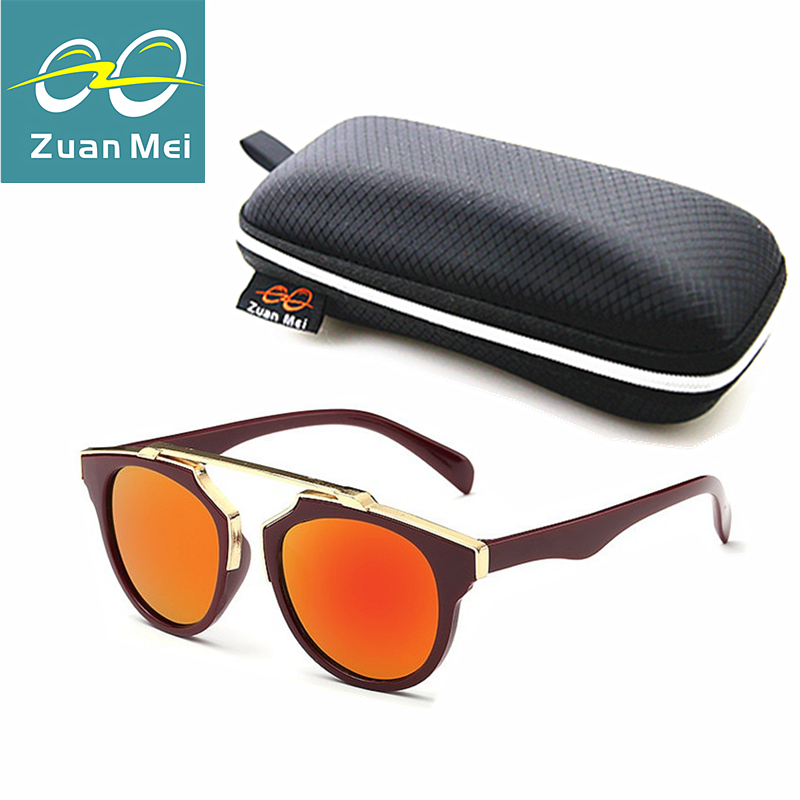 Zuan Mei Brand Kids Sunglasses Girls Baby Sunglasses Boys Vintage Children Glasses Round Sun Glasses For Boys Gafas De Sol Ninos