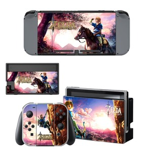 Image 4 - The Legend of Zelda Decal Vinyl Skin Protector Sticker for Nintendo Switch NS Console +Controller + Stand Holder Protective Skin