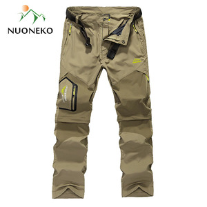 Image 2 - NUONEKO Quick Dry Removable Hiking Pants Outdoor 6XL Mens Summer Breathable Shorts Men Mountain Camping Trekking Trousers PN09