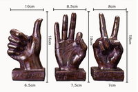 Retro Home Decorations Victory Gestures Hand Ornaments Creative Gifts Vintage Home Furnishings