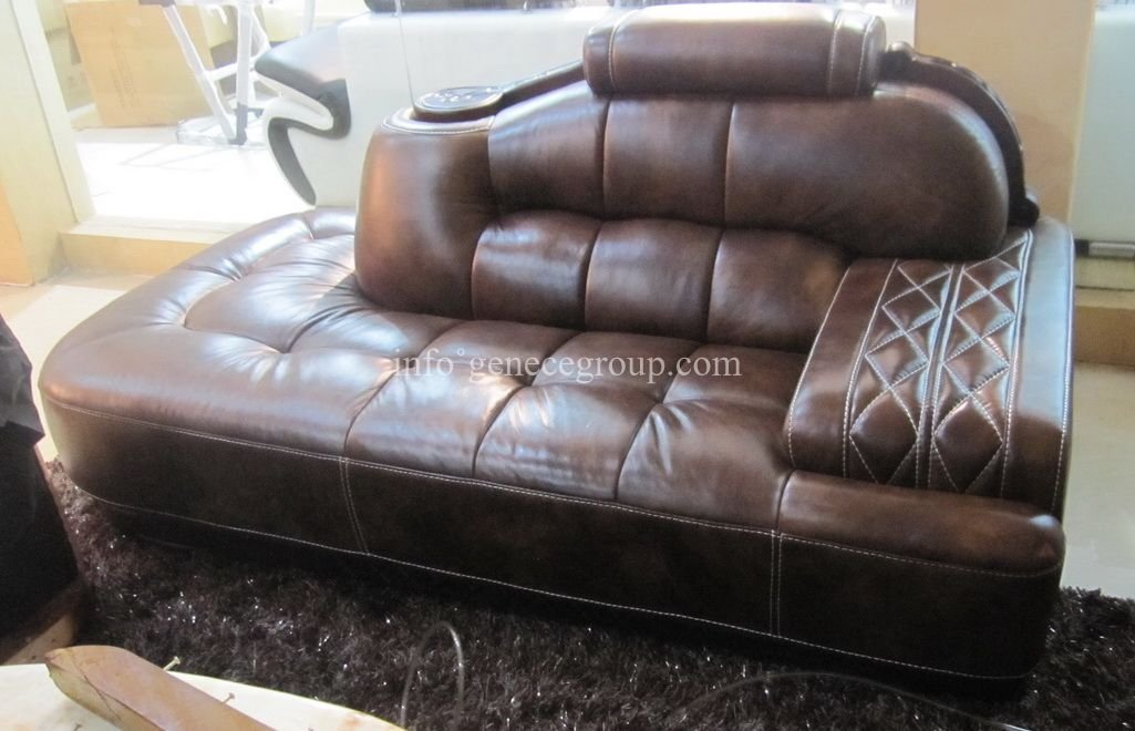 Grey Leather Sofas Harveys How To Reupholster Sofa Pillows Chaise Andersen Top Grain ...