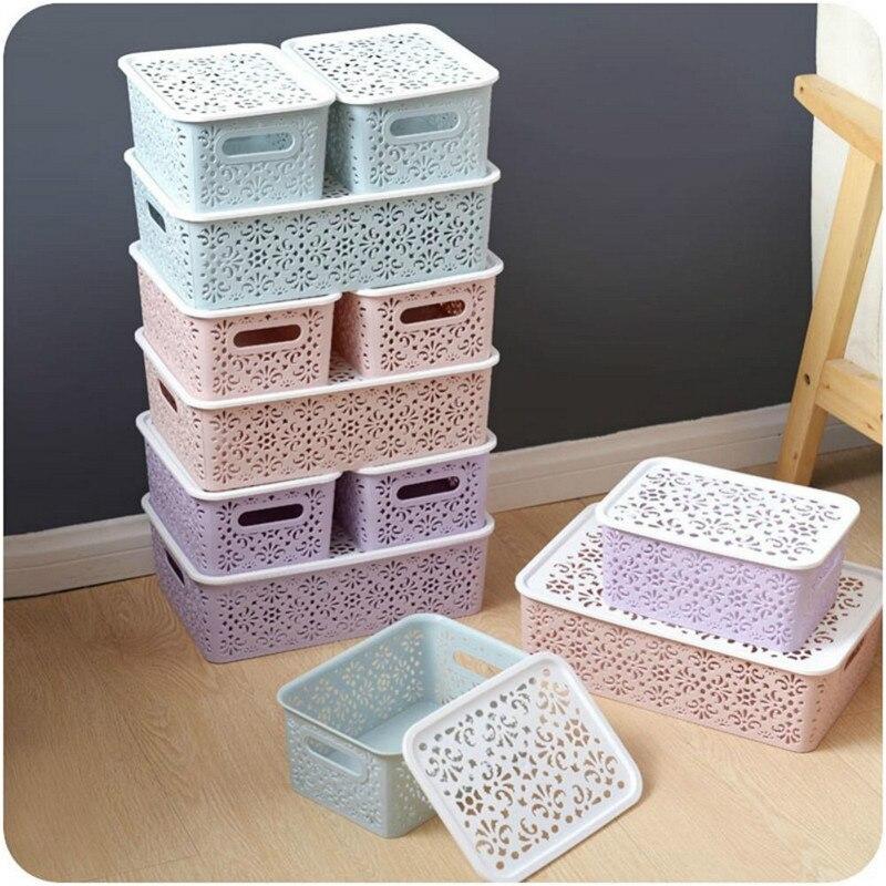 Case Baskets Socks Underwear Closet-Organizer Storage-Box Home-Container Kitchen Plastic