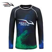 Keep Diving New Arrival Upf50+ Anti-uv Rash Guards Men Quick-dry Long Sleeves Wetsuit Sunscreen Swimming Surfing Suit Large Size gsou snow brand wetsuit diving swimming suit men long sleeve surfing rash guards swimwear summer beach water sports clothes