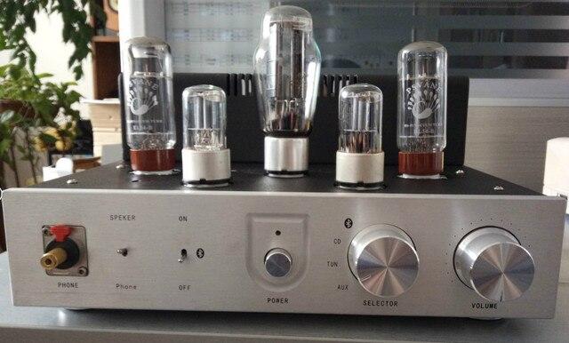 Дешевые оптовая продажа новый EL34 ламповый усилитель лихорадка четыре аудио-переключатель с bluetooth-гарнитура усилитель для россии