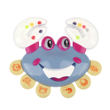 Baby Shaking Rattle Crab Animal Design Handbell Musical Instrument ABS Plastic Jingle Shaking Rattle Kids Toy