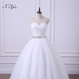 Image 4 - ADLN 2020 Ballkleid Hochzeit Kleid Robe de Mariee Elegante Echt Fotos Schatz Tulle Perlen Korsett Günstige Brautkleid Plus größe