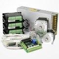 ЧПУ комплект 3 Оси Nema23 Шаговаой Двигатель 175 Oz-in Шаговых Драйвера 0.5A-3.5A Интерфейсный Борт 12-24V Входное Напряжение Анти-реверса функция Выход 0-10V Аналоговое Напряжение Защита Обратной Мощности