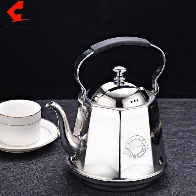CHANOVEL 1.6L 304 Edelstahl Teekanne Kaffee Splitter Kaltem Wasser ...