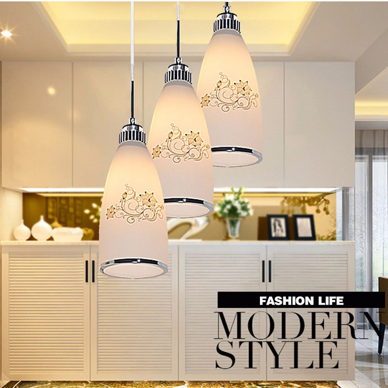 New Modern Colorful led Pendant Light Lighting Led pendant lamp glass shade for Art Decoration Bar Coffee Shop  Hanging lights modern shade glass artistic pendant golden and black e14 bulb modern lighting sphere beanstalk molecular mall shop decoration