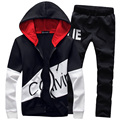 Hot Sale 2017 Spring Autumn Men Leisure Suit Hoodies Clothing Set Men's Tracksuit (Asian Size)