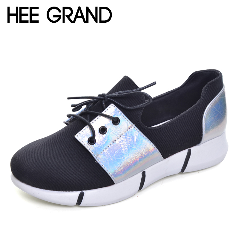 HEE GRAND 2017 Platform Loafers Casual Flats Shoes Woman Spring Autumn Creepers Gold Silver Women Flat Shoes 4 Colors XWD5337 phyanic 2017 gladiator sandals gold silver shoes woman summer platform wedges glitters creepers casual women shoes phy3323