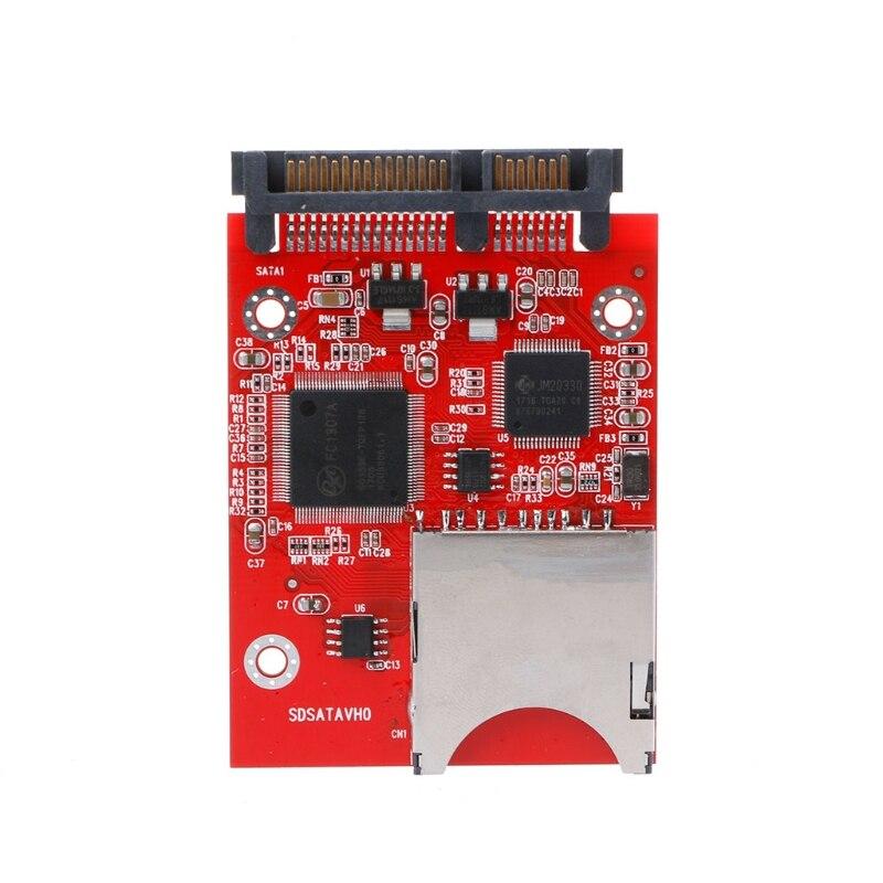 Digital MMC SD SDHC Secure zu SATA Konverter Adapter für Windows Linux Mac OS