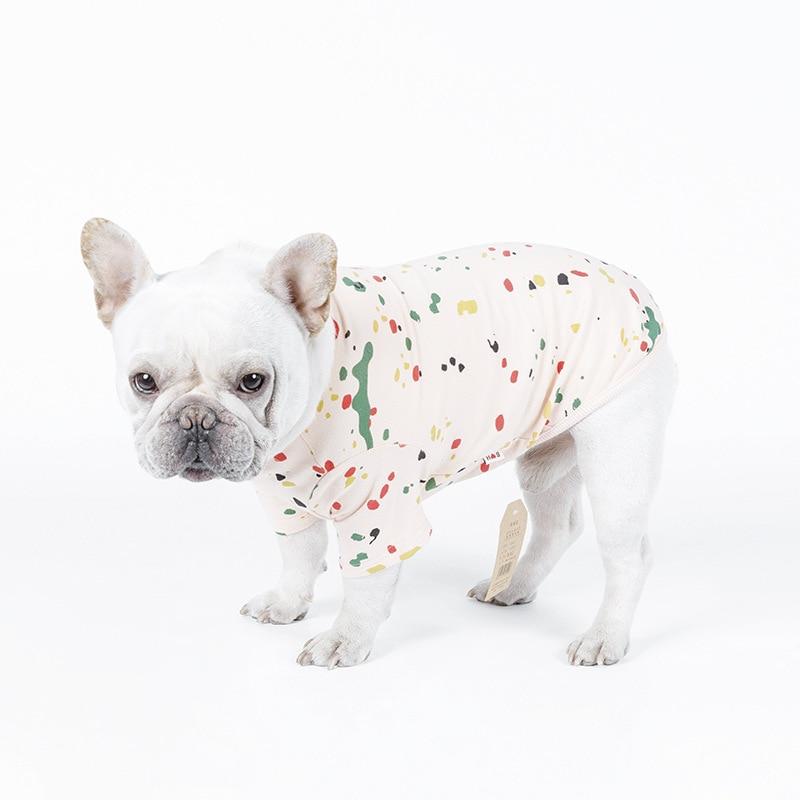 PipiFren Nyári szerelem Kutyák Ruhák T-ingek tavasszal háziállatok számára Háziállatok Ruhák Színes jelmezes macskák Jelmezek Roupa cachorro
