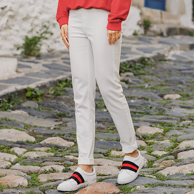INMAN Spring Autumn Clothes Jeans Woman Fashion Solid Color Women Long Pants