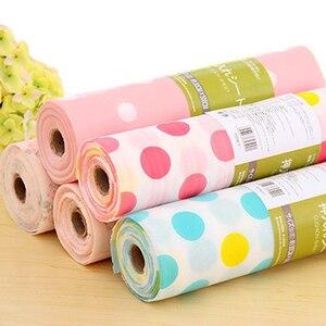 Image 5 - 5 Rolls/Set Nicht Klebe Regal Papier Schöne Dot Muster Schublade Lagerung Liner für Schublade Tisch Küche Schränke speisekammer