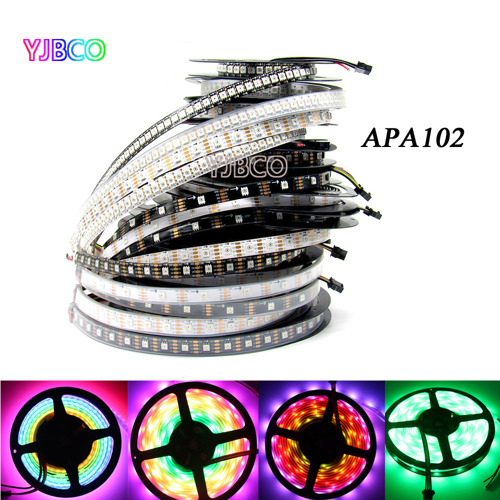 APA102 1m/5m RGB Full Color 30/36/60/96/144 leds/m SMD5050 IP30/IP65/IP67Pixel LED Strip ...