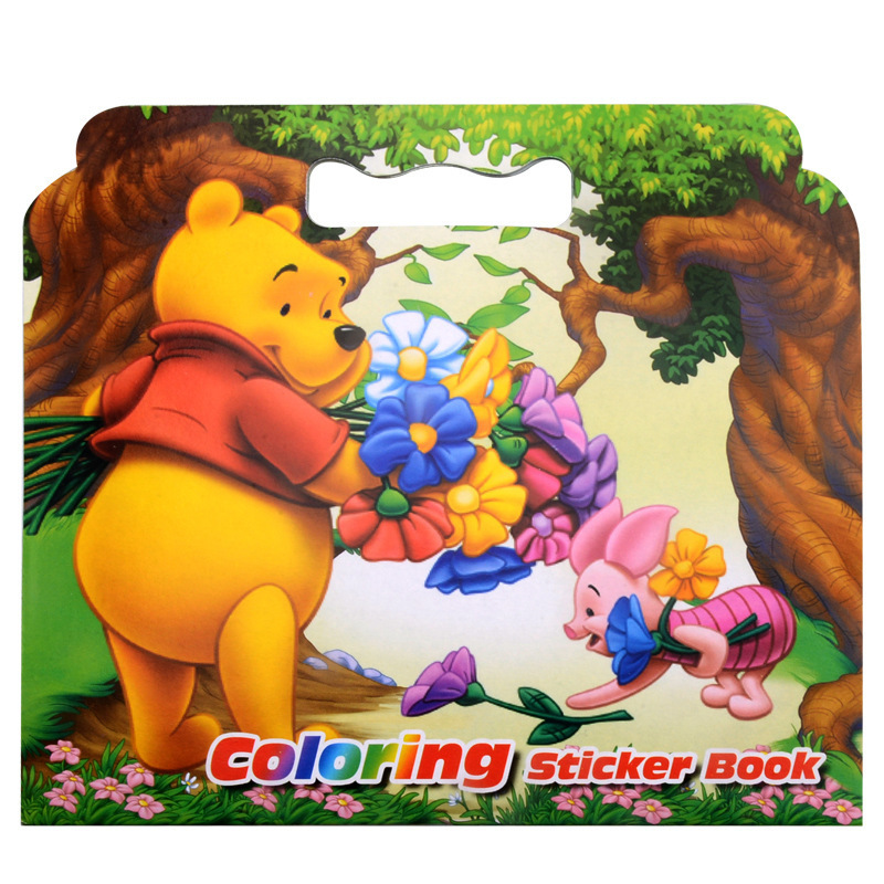 16 Pages Cute Little Bear Coloring Sticker Books