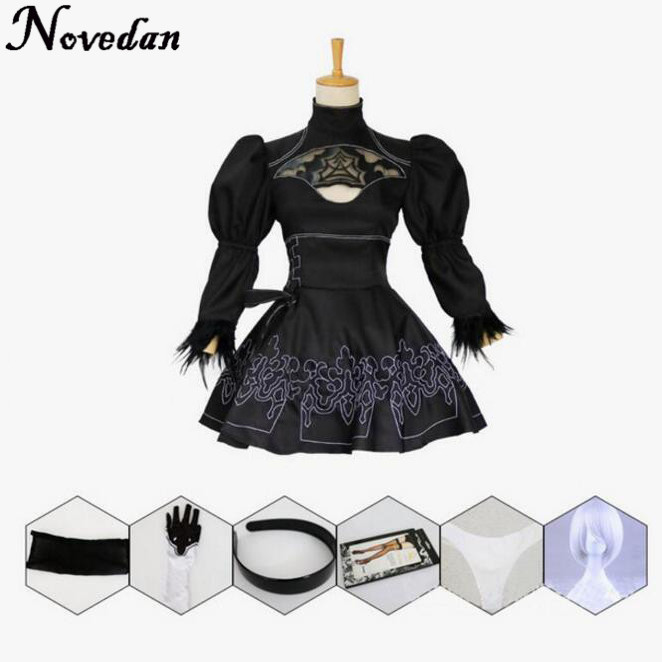 Nier Automatas 2B Cosplay Costume Yorha No 2 Model B Neal Era Actress Anime Black Maid