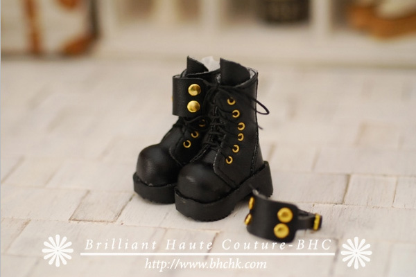 Free shipping High quality Handmade Black dual boots Doll shoes,doll accessories for blythe Azone Lati Dal MMK licca gift toys