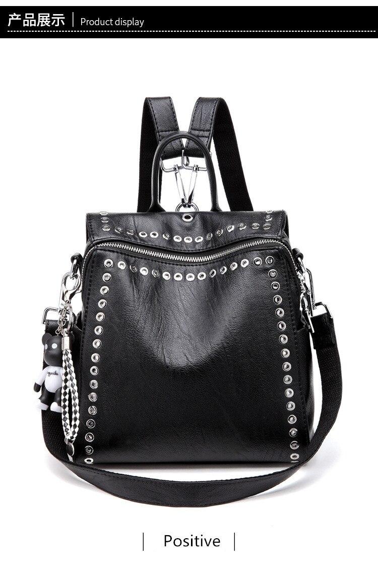 HTB1VnR8ahrvK1RjSszeq6yObFXa4 QINRANGUIO Leather Backpack Women School Bags for Teenage Girls 2019 New Fashion Large Capacity PU Leather Black Women Backpack