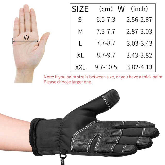 ROCKBROS Thermal Ski Gloves Winter Fleece Waterproof Snowboard Gloves Snow Motorcycle Skiing Gloves Sportswear Audlt Kids Gloves