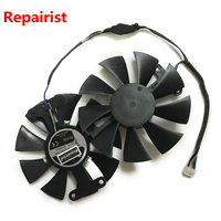 Repairist 2pcs Lot PowerColor Red Devil RX470 RX480 GPU Graphics Cooler VGA Fan For AXRX 470
