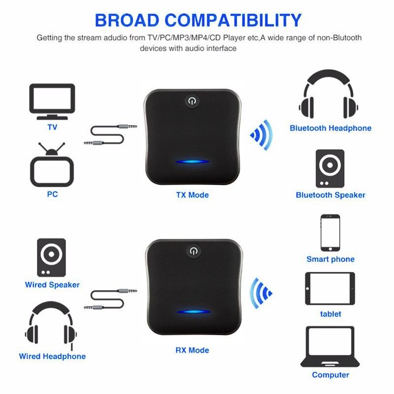 Adaptateur Bluetooth transmetteur Bluetooth récepteur adaptateur Aptx HD adaptateur émetteur optique récepteur 2 en 1 pour haut-parleur TV voiture - 4