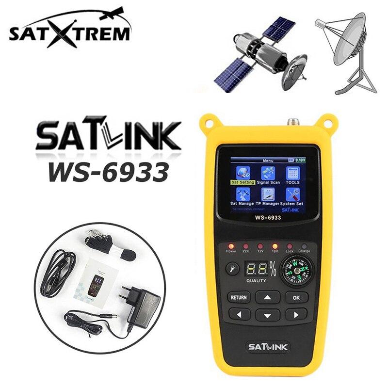 Satlink WS-6933 2.1 Inch DVB-S2 1080P HD digital satellite satFinder meter satellite finder LCD Sat Finder ws 6933 satlink PK V8 original satlink ws 7990 4 route dvb t modulator av hdmi four router dm modulator dvb t av hd digital rf modulator