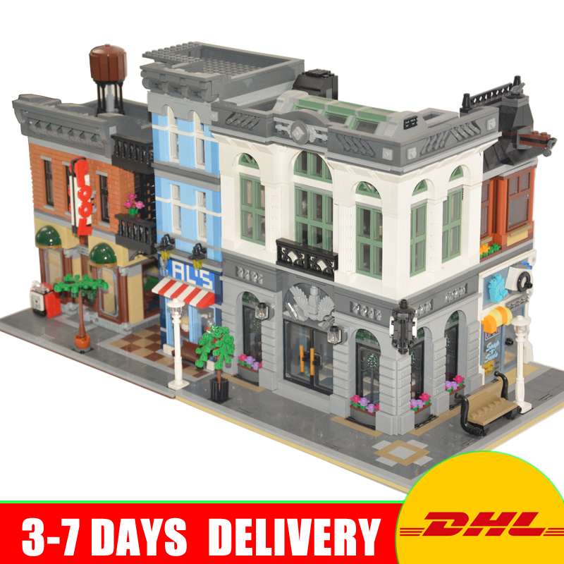 2017 LEPIN 15001 Brick Bank+15011 The Detective's Office Model Building Kits Blocks Bricks Toys For Children Gift 10251 10197 building blocks super heroes back to the future doc brown and marty mcfly with skateboard wolverine toys for children gift kf197