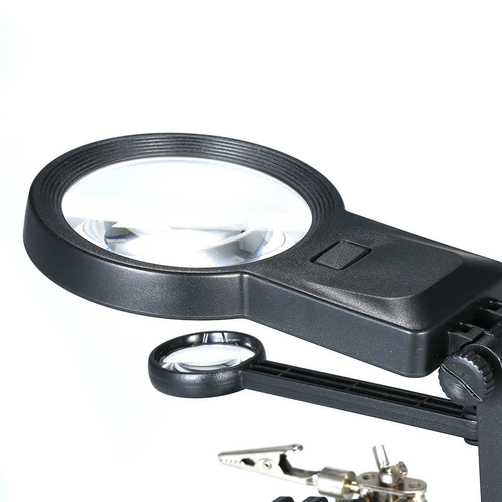 KKmoon TH7206 רב תפקודי ריתוך זכוכית מגדלת 3X/4.5X/25X LED אור שולחן העבודה זכוכית מגדלת כמו USB יציאת הלחמה stand תיקון כלי