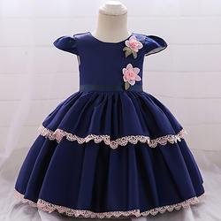 Голубое летнее платье для маленьких девочек, хлопковые платья для новорожденных девочек вечерние ная и свадебная летняя одежда для