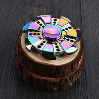 High Quality Rainbow Fidget Spinner Metal Fidget Spinner Rainbow Spinner Metal Gift Finger Spinning Top Toy