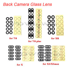 10 Pcs Rear Back Camera Lens Voor Iphone 7 8 Plus X Xs Max Xr 11 Pro Glas Cover Met 3M Sticker Adhesive Vervangende Onderdelen(China)