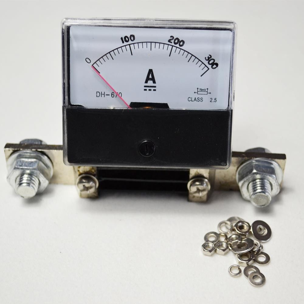 NEW DC 0~300A ANALOG AMP PANEL METER CURRENT AMMETER