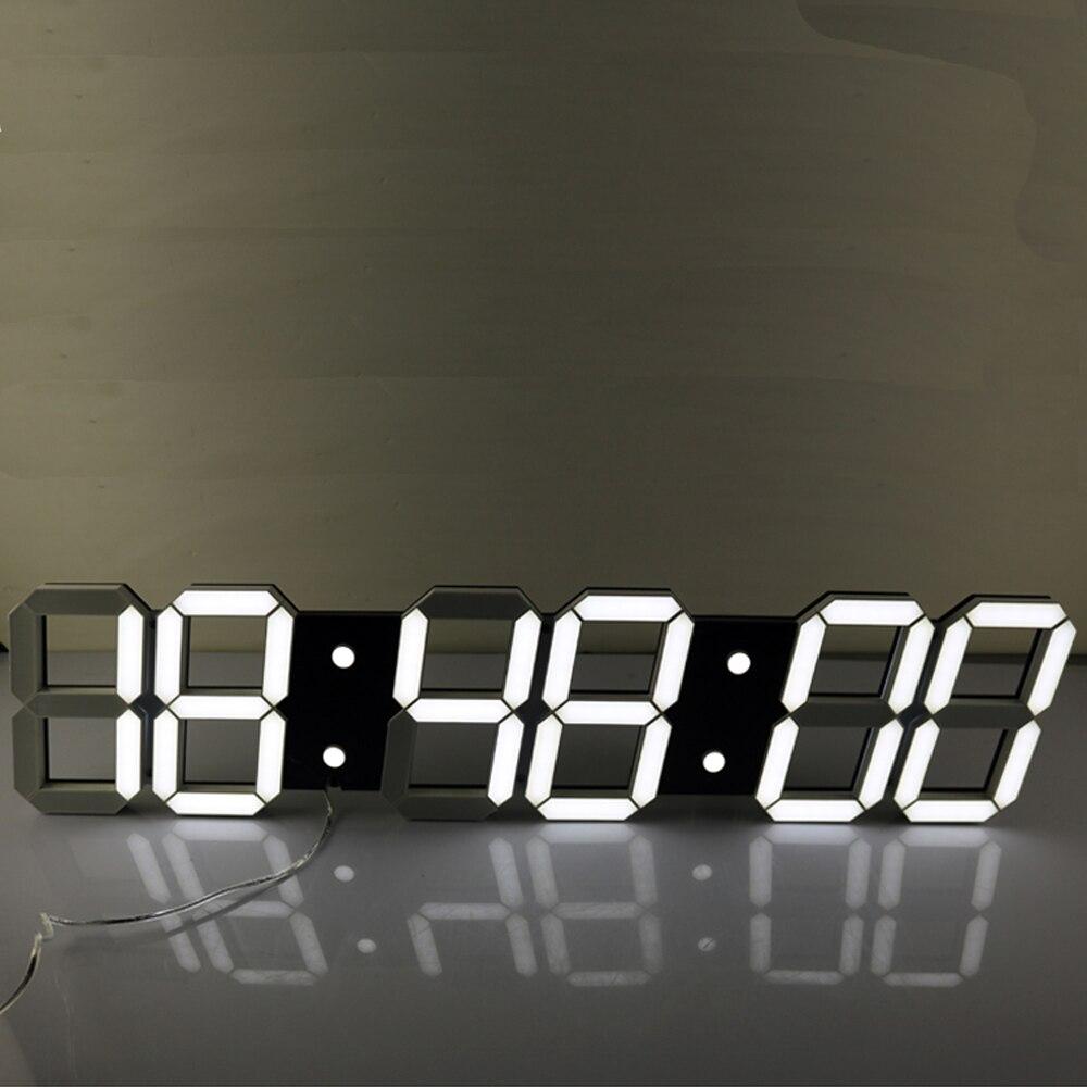 Super Grand Numérique LED D'alarme Horloge Horloge Murale Télécommande Compte À Rebours Minuterie Minuterie De Sport Chronomètre