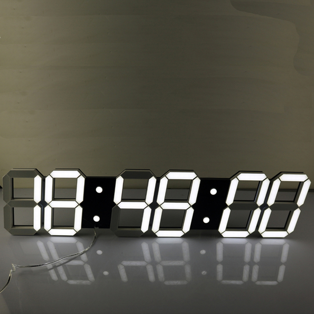 Super Large Digital LED Alarm Clock Wall Clock Remote Control