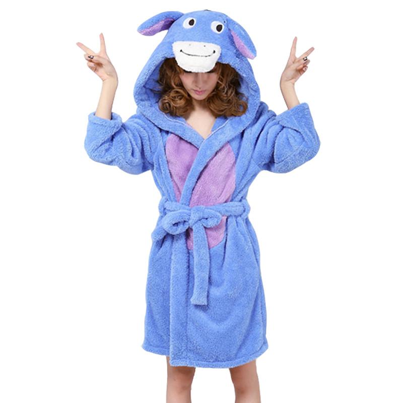 New-arrival-autumn-and-winter-women-s-cartoon-fleece-soft-bathrobe-with-hood-lovely-juniros-girls (2)