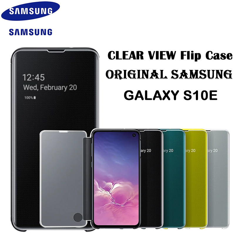 100% Original Samsung Galaxy S10E Clear S View Filp Cover Standing For S10E Mirror View Case Kickstand EF ZG970CWEGUS Anti fall