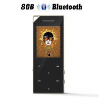 Metal   MP3     Player   with bluetooth 4.0 and Speaker 1.8in Screen 8G Portable Digital Music Audio   Player   with FM Radio Recording C05