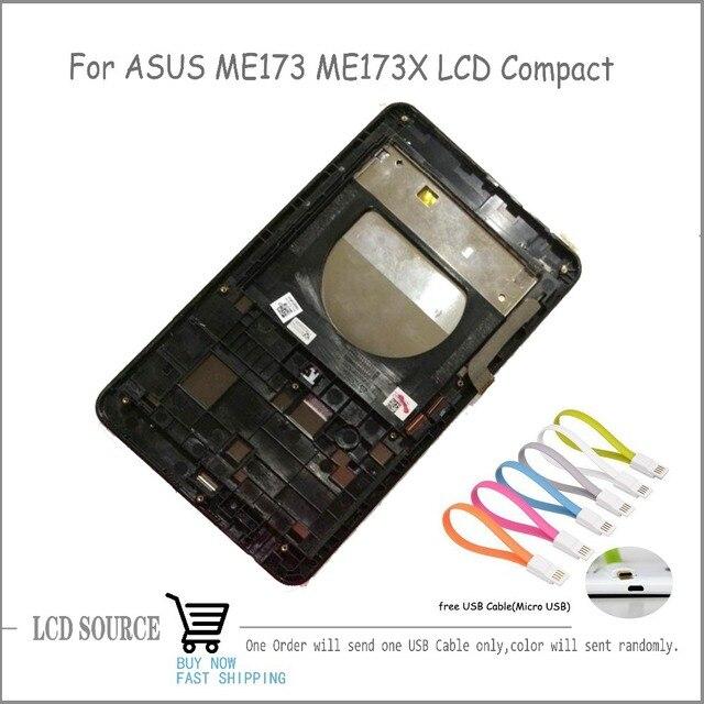 Lcd compacto com frame para asus memo pad hd 7 me173 me173x k00b sensores display lcd de toque digitador assembléia substituição