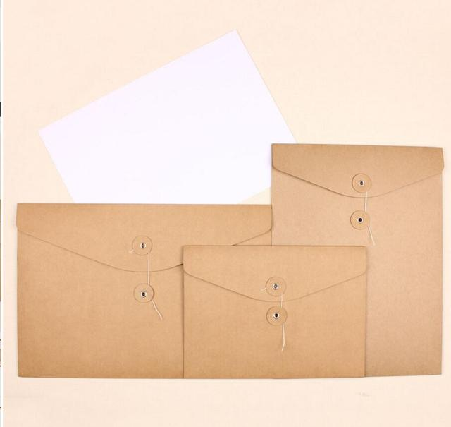 US $78 85 5% OFF| A4/A5 kraft paper envelope for invication card thick  paper file bags brown kraft envelopes horizontal A4-in Gift Bags & Wrapping
