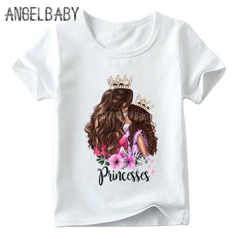 Одинаковые комплекты для семьи футболка для мальчиков и девочек с принтом супермамы и дочки одежда для подарка на День Матери Забавные футболки для детей и женщин - Цвет: 5281C