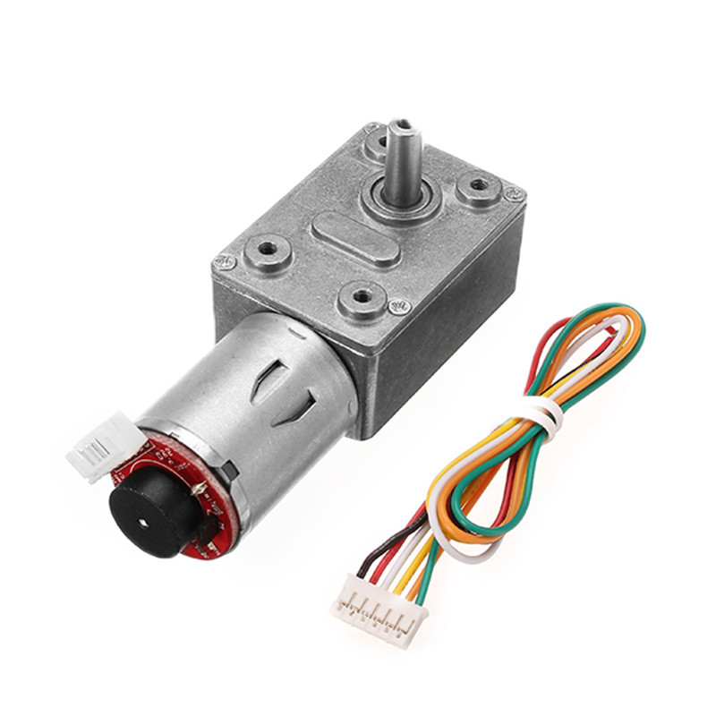 1pc GM4632-370 DC <font><b>12V</b></font> 30RPM High Torque Turbo <font><b>Encoder</b></font> <font><b>Motor</b></font> Worm <font><b>Geared</b></font> <font><b>Motor</b></font> Reducer <font><b>Motor</b></font> image